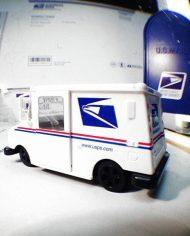 usps postal van_0