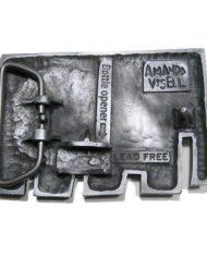 Amanda Visell Elephant Belt Buckle – Back