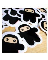 Wee Ninja Vinyl Stickers
